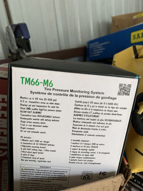 Tire monitoring system for travel trailer new in box