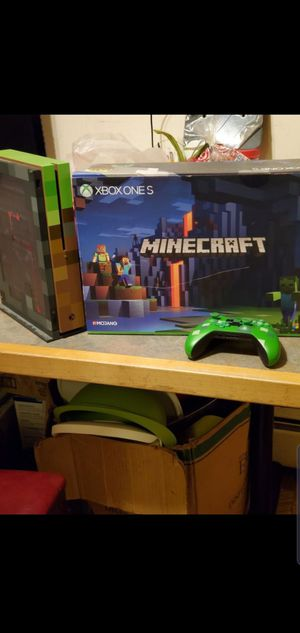 Xbox one s 1tb minecraft edition for Sale in Wheeling, IL