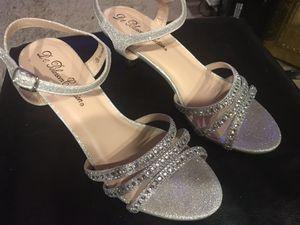 Low Heel Silver & Rhinestone Sandals for Sale in Tulalip, WA