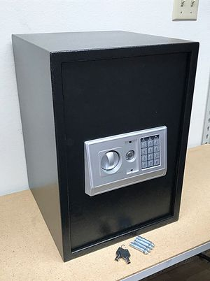 "New in box $80 Large 14""x14""x20"" Digital Security Safe Box Electric Keypad Lock w/ Master Key for Sale in Pico Rivera, CA"