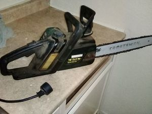 """16"""" 3.5 HP Craftsman Electric chainsaw for Sale in Bakersfield, CA"""