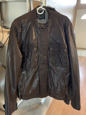 Brown Leather Jacket - Lucky Brand Black Label for Sale in Lodi, CA