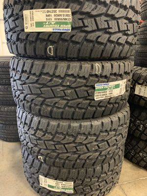 BRAND NEW 33X12.50 R20 Tires Toyo Tires Open Country II at 1245 New Bern Av Raleigh NC 27610 Blue Flame Tires NC for Sale in Raleigh, NC