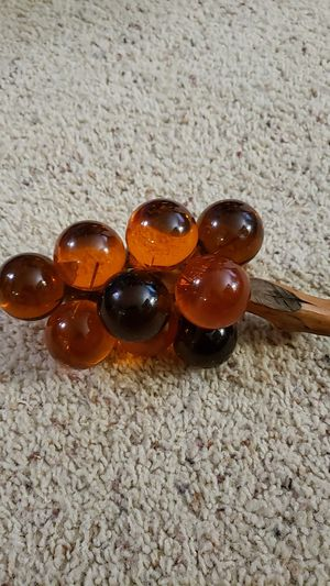 Vintage amber acrylic grapes for Sale in Des Moines, WA
