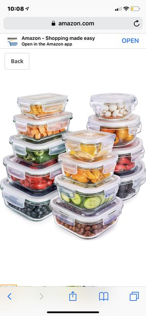 13 pc glass storage container set for Sale in East Brunswick, NJ