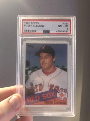 Roger Clemens 1985 Topps #181 PSA 8 Boston Red Sox Baseball Cards for Sale in Las Vegas, NV