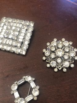 Three Pieces Vintage Weiss Brooch for Sale in Littleton,  CO