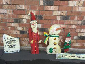 Tole painted Rustic Christmas Decore Indoor/Outdoor for Sale in East Wenatchee, WA