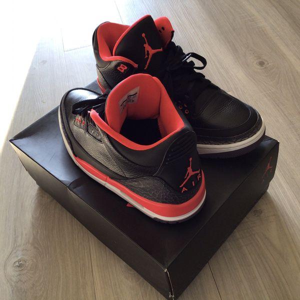 Crimson 3s $75