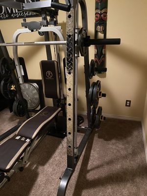 Marcy elite home gym with 500 LBS OF WEIGHTS.Like new condition for Sale in Temecula, CA