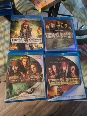 Pirates of the Caribbean blu rays for Sale in Lacey, WA