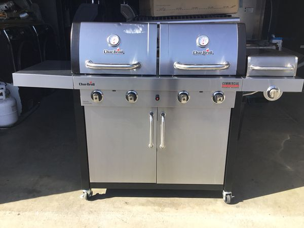 Like new bbq grill charbroil stainless steel