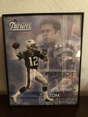 Framed Poster picture of Tom Brady $7 for Sale in Taunton, MA