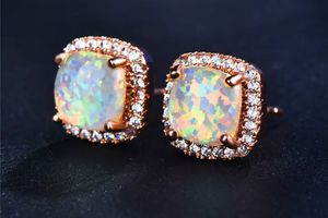 18k rose gold plated opal earrings for Sale in Crystal Lake, IL