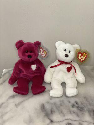 TY Original Bean Baby Valentino & Valentino Bears for Sale in San Leandro, CA