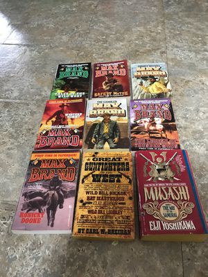 Books western cowboy reading MAX BRAND for Sale in HOFFMAN EST, IL