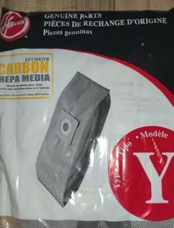 NEW Hoover Type Y Carbon Activated HEPA Vacuum Bags PART# 902481001 #AH10165 for Sale in Hillsboro,  OR