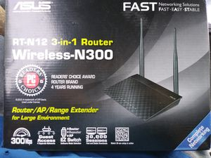 Asus RY-N12 wireless N300 Router(New-in-📦) for Sale in San Diego, CA