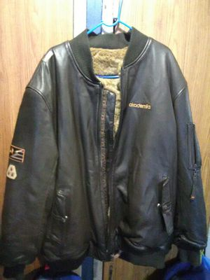 Reverse leather and fur akademiks jacket for Sale in Bronx, NY