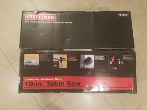 Craftsman 10in table saw for Sale in Miami, FL