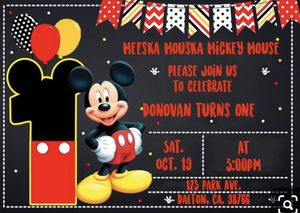 Mickey Mouse birthday invitation for Sale in Norwalk, CA