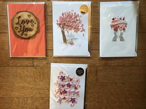 Lot of four handmade 3D Valentines cards (E) for Sale in Takoma Park, MD