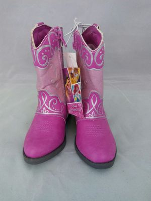 Disney princess pink Toddler cowboy boots size 6 for Sale in San Bernardino, CA