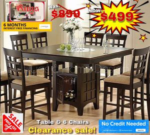 Table & 6 chairs dining set for Sale in Visalia, CA