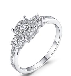 925 Solid sterling Silver Promise Engagement Wedding Ring 💍 for Sale in San Jose,  CA