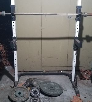 Tuff Stuff Squat Rack & Bench Home Gym for Sale in Seattle, WA