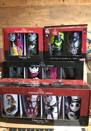 Nightmare before Christmas glassware for Sale in Concord, CA