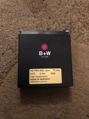 B+W 72mm XS-PRO Digital MRC Nano KSM Circular Polarizer Filter 1081477 for Sale in Colton, CA