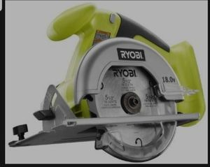 Ryobi One+ P501G 18V Lithium Ion Cordless 5 1/2 Inch Circular Saw w/ Included Blade (Battery Not included, Power Tool Only) $35.00 for Sale in Tucson, AZ