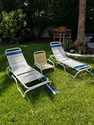 Fountain Blue lounge chair set for Sale in Fort Lauderdale, FL