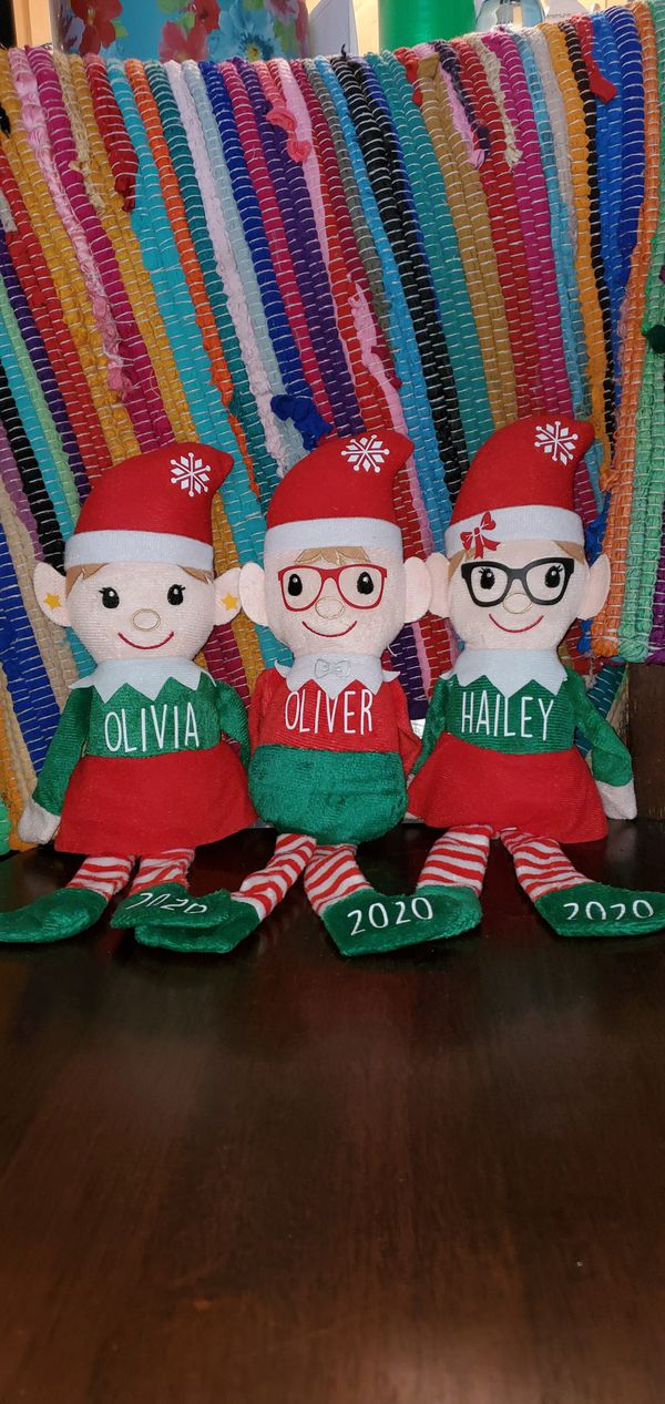 """Personalized 13 """" Elf's Custom Name Year and certificate! $10.00 each"""