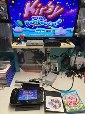 Nintendo Wii U super smash bros Kirby and the rainbow curse for Sale in Miami, FL