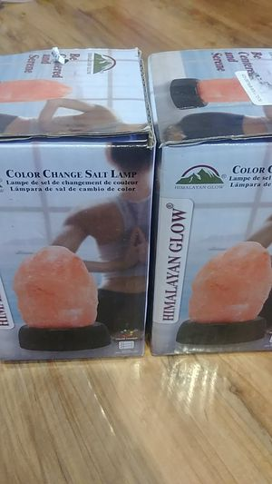 2 himalayan salt change color including bateries for Sale in Hacienda Heights, CA