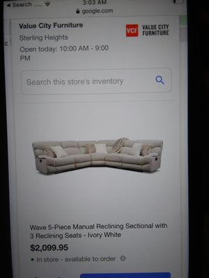Reclining leather sectional for Sale in Lexington, KY
