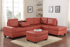Red Sectional Couch for Sale in Houston, TX