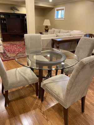 Crate and Barrel Halo Dining Table, RH dining Chairs for Sale in Vienna, VA