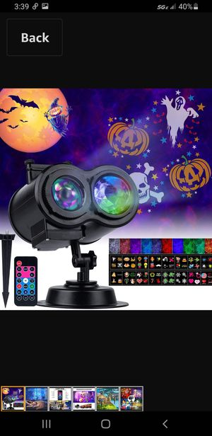 Minetom Halloween//Projector Lights Outdoor ((26 ))HD Effects (3D Ocean Wave + Patterns) Waterproof with RF Remote Control Timer for Indoor Holiday for Sale in Las Vegas, NV