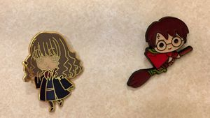 Harry Potter Pin Set Harry Potter Hermione Granger Pins Set of 2 for Sale in Lake Charles, LA