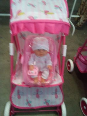 Stroller baby doll pacifier receiving blanket and carseat $20 for all Palmdale California for Sale in Palmdale, CA
