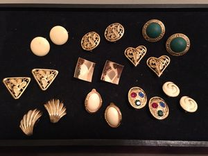 10 Pairs of Vintage Clip-On Earrings for Sale in Baltimore, MD