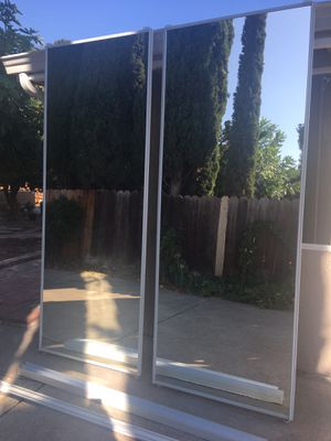 """New 2 mirrored closet doors with track. 94"""" tall for Sale in Concord, CA"""