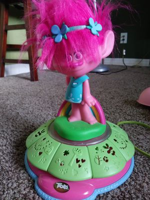 Trolls Poppy singing/spinning light up projection toy for Sale in Chandler, AZ