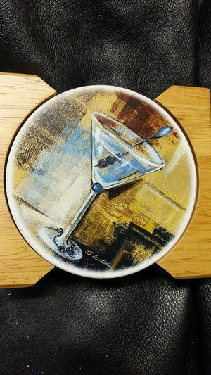 New set of four martini coasters for Sale in Chantilly, VA