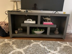 Grey wooden TV stand or credenza for Sale in Los Angeles, CA