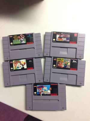 5 Super Nintendo games all one price for Sale in Bellingham, MA