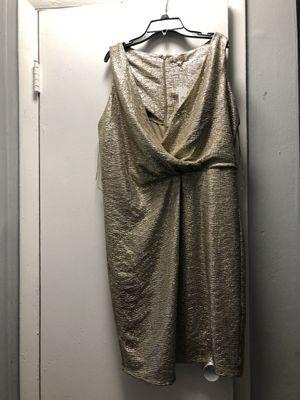 Sparkling gold women size L dress for Sale in Hialeah, FL